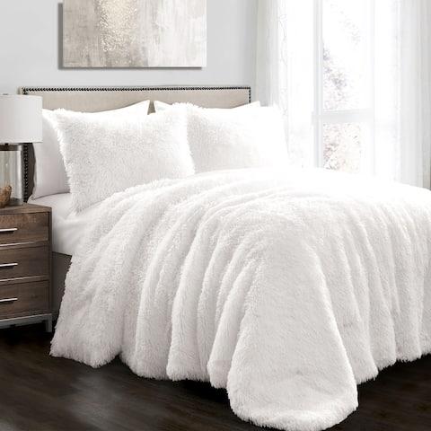 Lush Decor Emma Faux Fur 3 Piece Comforter Set