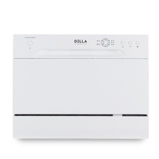 DELLA Countertop Portable Dishwasher Stainless Steel w/ 6 Place Settings & LED Display