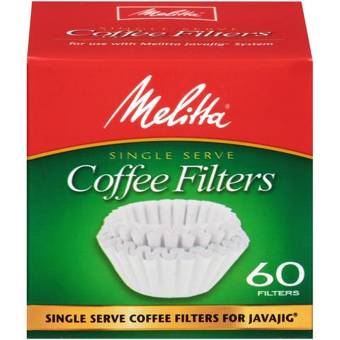 Melitta JavaJig Replacement Filters, 60 Count, 2 Pack