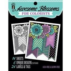 """Awesome Blossoms - Hot Off The Press Coloring Book 5""""X6"""""""
