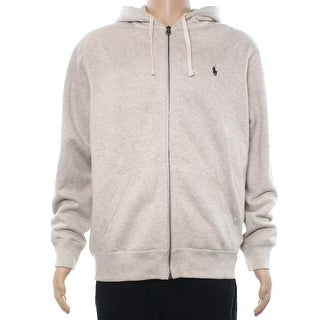 Polo Ralph Lauren NEW Almond Heather Beige Mens Size XL Full Zip Sweater