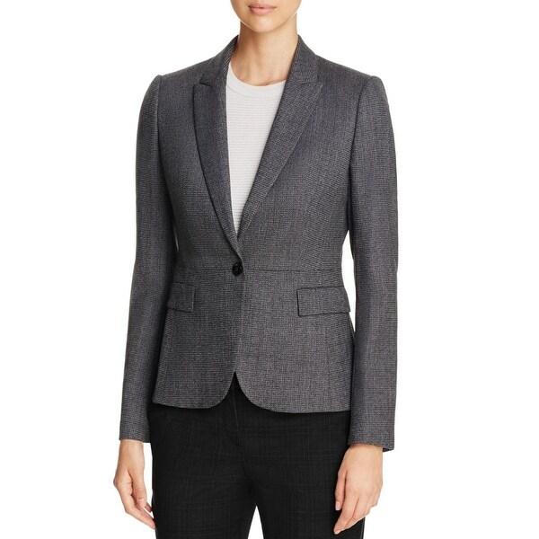 d111998cb7 Shop BOSS Hugo Boss Womens Jiabina One-Button Suit Jacket Wool Peak Collar  - Free Shipping Today - Overstock - 17182218