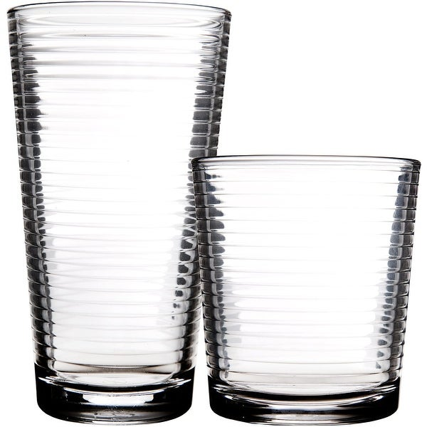 Palais Glassware Striped Collection; High Quality Striped Clear Glass Set. Opens flyout.
