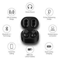 Ultra Light Mini Cordless Bluetooth EarBuds w/ Magnetic Charging Case - Universally Compatible (iOS & Android) (Black)