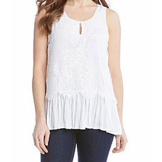 Karen Kane NEW White Women's Size Medium M Lace Knit Tank Cami Top