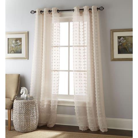 Nanshing Payton Solid Grommet-Top, Curtain Panel Pair