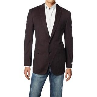 Calvin Klein Mens Two-Button Suit Jacket Wool Slim Fit - 44L
