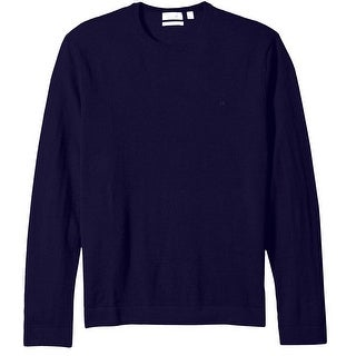 Calvin Klein NEW Blue Roma Mens Medium M Merno Wool Crewneck Sweater