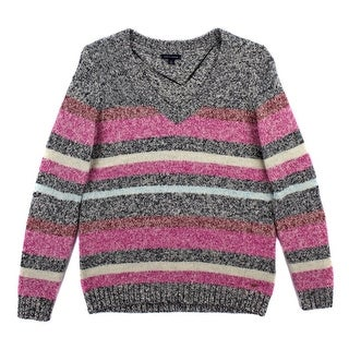 TOMMY HILFIGER Striped Pullover Sweater - M