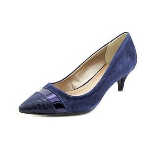 Alfani Vixine Women Pointed Toe Suede Blue Heels
