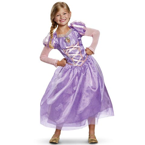 Disguise 2018 Rapunzel Deluxe Child Costume - Purple/Pink