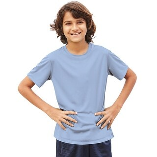 Hanes Cool DRI® Youth T-Shirt - Size - XS - Color - Light Blue