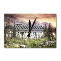 MT John Muir The Mountains are Calling Photograph (Acrylic Wall Clock) - acrylic wall clock