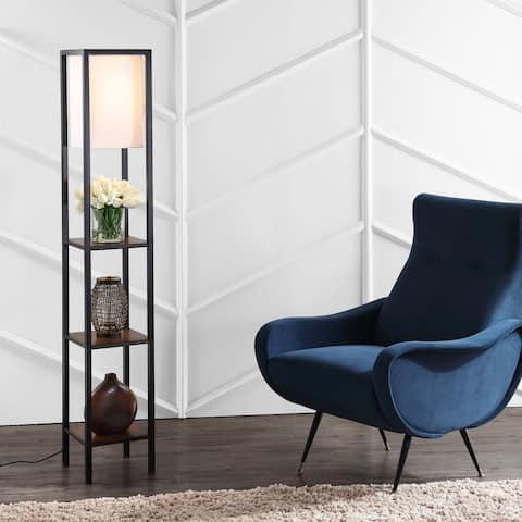 "SAFAVIEH Lighting 59-inch Rista Shelf Cherry LED Floor Lamp - 10"" x 10"" x 58.5"""