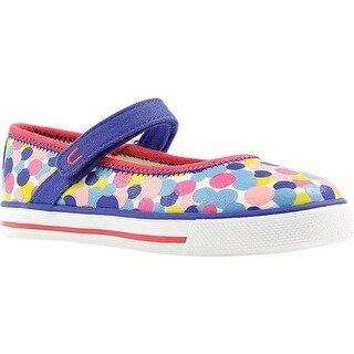 Umi Girls' Hana B Mary Jane Light Blue Multi Canvas
