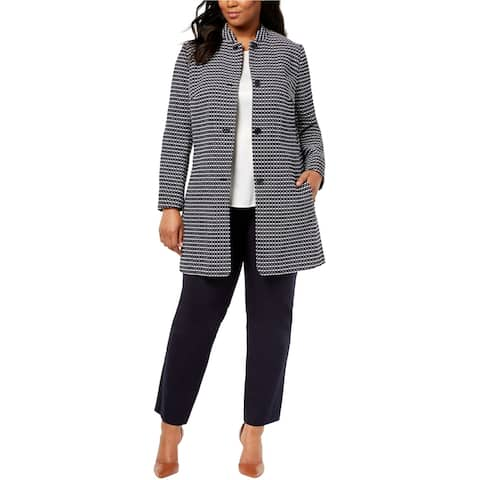 Anne Klein Womens Nehru Coat