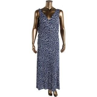 Three Dots Womens Sleeveless Full-Length Maxi Dress