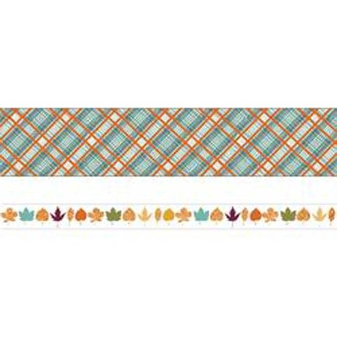 Autumn Woods W/Gold Foil - Life Organized Washi Tape 5Mm & 15Mm 10M Each