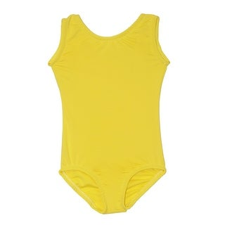 Girls Bright Yellow Full Front Lining Tank Dancewear Leotard