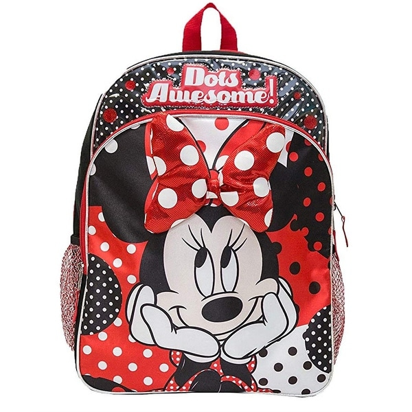 ab064af8abc Shop Disney Minnie Mouse Bow Backpack - Free Shipping On Orders Over  45 -  Overstock - 26267936