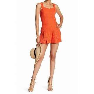 1. State NEW Cactus Coral Orange Womens Size Large L Eyelet Romper