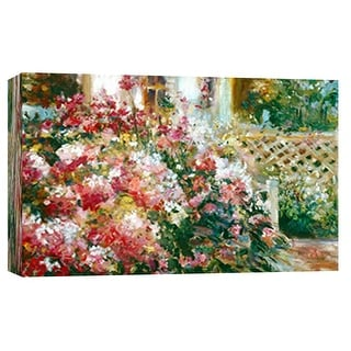 "PTM Images 9-101846  PTM Canvas Collection 8"" x 10"" - ""The Flower Garden"" Giclee Flowers Art Print on Canvas"