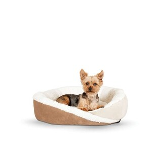 "K&H Pet Products Huggy Nest Pet Bed Large Tan / Caramel 36"" x 30"" x 8"""