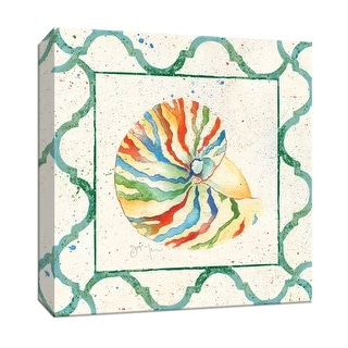 """PTM Images 9-147386  PTM Canvas Collection 12"""" x 12"""" - """"Zebra Nautilus"""" Giclee Shell Art Print on Canvas"""
