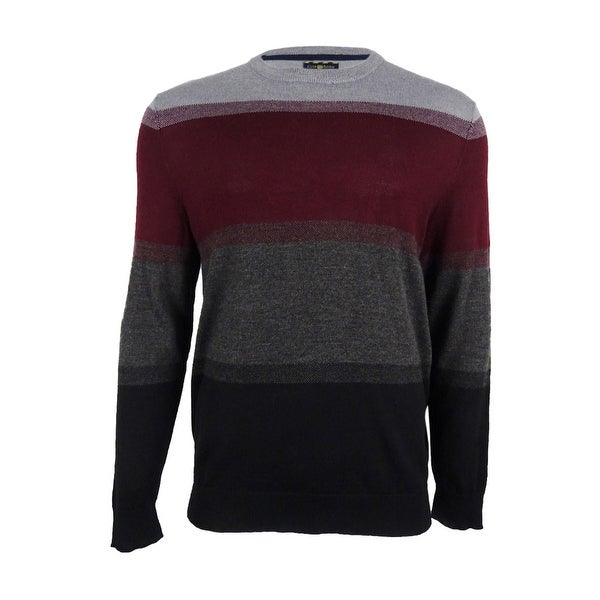 3fa2bf75239d Shop Club Room Men s Merino Wool Colorblock Sweater - Deep Black - Free  Shipping On Orders Over  45 - Overstock - 18691370