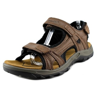Spring Step Domain Men Open-Toe Leather Brown Fisherman Sandal