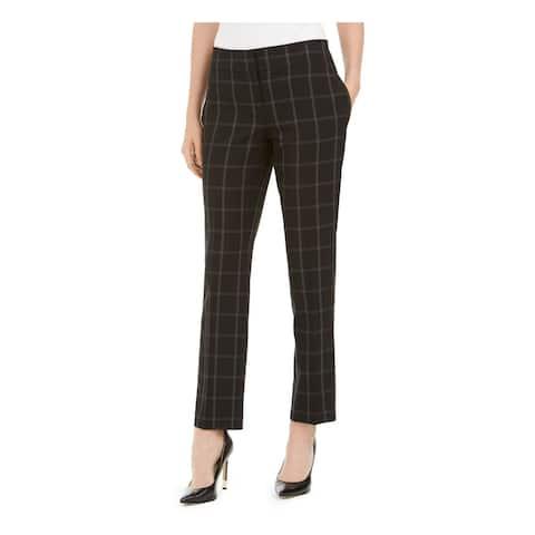 KASPER Womens Black Pinstripe Pants Size 16