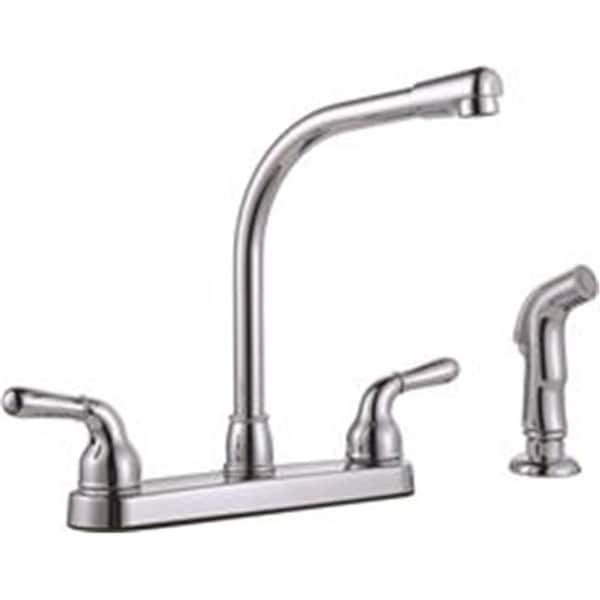 Shop Sanibel Two Handle Kitchen Faucet With Side Spray Chrome Free