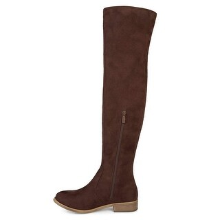 Brinley Co Comfort Womens Whipstitch Riding Boot Brown 8.5 Regular US