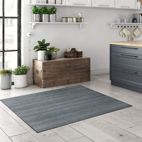 My Magic Carpet Machine Washable Area Rug Solid Grey