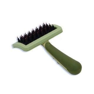 """Safari Nylon Coated Tip Dog Brush for Shorthaired Breeds Green 6.75"""" x 4"""" x 1"""""""