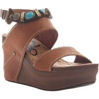 OTBT Women's Layover Heeled Sandal Tobacco Leather