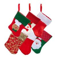 6 Pairs: Christmas House Mini Stockings 12 Count Packs