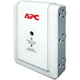 APC P6W APC SurgeArrest Essential P6W 6-Outlets Surge Suppressor - 6 x NEMA 5-15R - 1080 J - 120 V AC Input - 120 V AC Output