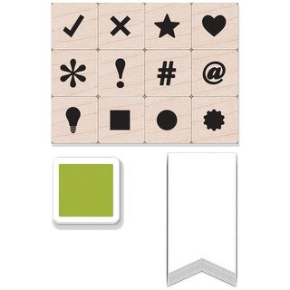 "Hero Arts Mounted Stamps Mini Tub 3.5""X1""X4""-Planner Dingbats"