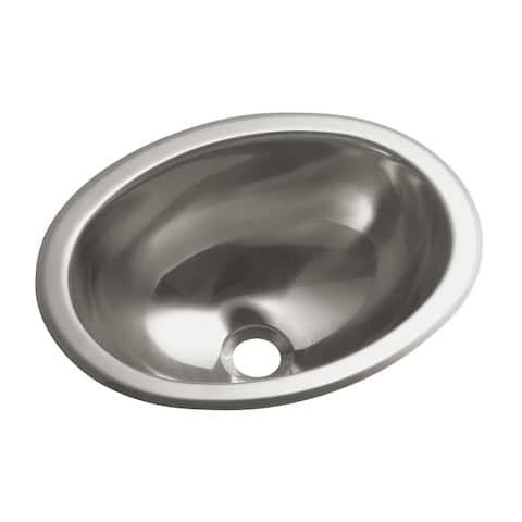 "Sterling 11811-0 13-1/4"" Oval Stainless Steel Drop in or Undermount - Stainless Steel"