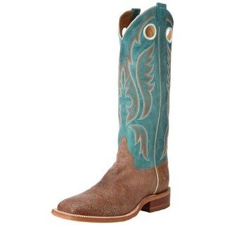 Justin Boots Mens Leather Detail Stitching Cowboy, Western Boots