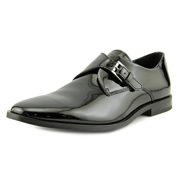 Calvin Klein Norm Men Round Toe Patent Leather Black Oxford