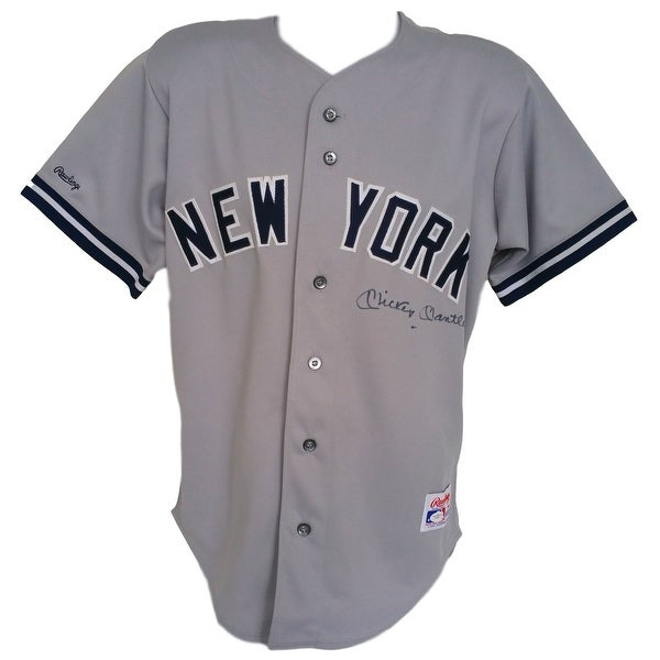 newest collection ba71e 8f117 Shop Mickey Mantle Signed Authentic New York Yankees Gray ...
