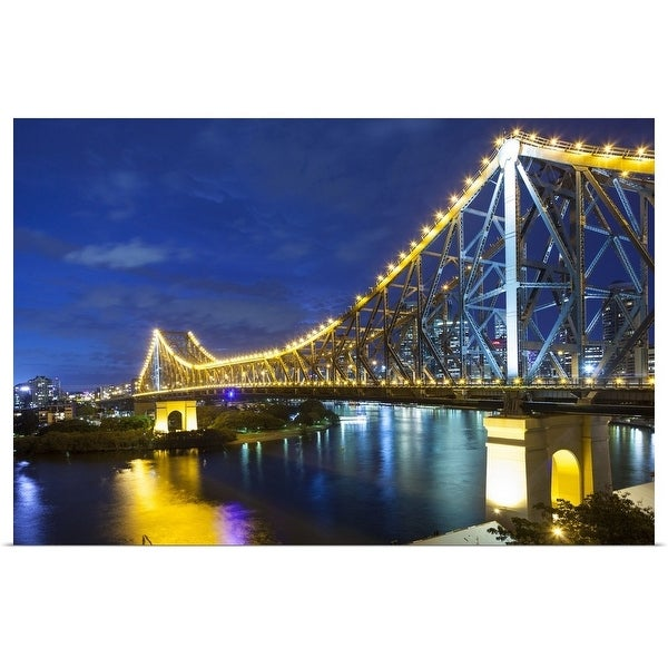"""Brisbane's Story Bridge by night, Queensland, Australia"" Poster Print"