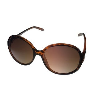 Ellen Tracy Womens Sunglass 536 1 Demi Rectangle Plastic, Brown Gradient Lens - Medium