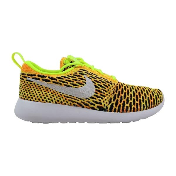 uk availability 8b326 ffe16 Nike Roshe One Flyknit Volt White-Total Orange-Black 704927-702 Women