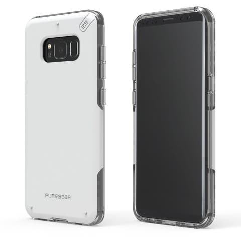 PureGear DualTek PRO Slim Protective Case for Samsung Galaxy S7 - White/Clear - White