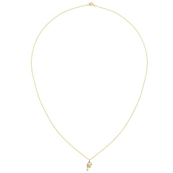 Details about  /14K Yellow Gold 3D Beach Bucket with Shovel Charm Pendant MSRP $264