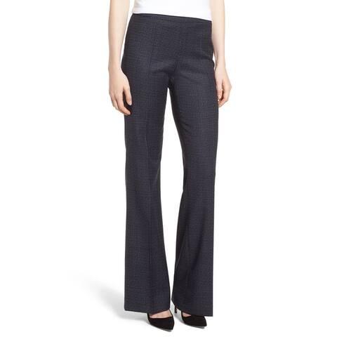 BOSS Hugo Boss Blue Womens Size 4 Tulea Windowpane Wool Dress Pants