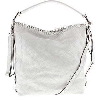 Jessica Simpson Womens Lizzie Faux Leather Lined Hobo Handbag - Large